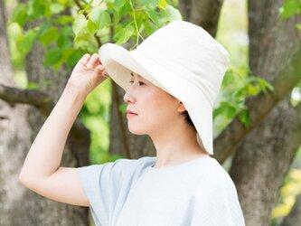 Organic Cotton 日よけ帽【リネンコットンWガーゼ】の画像