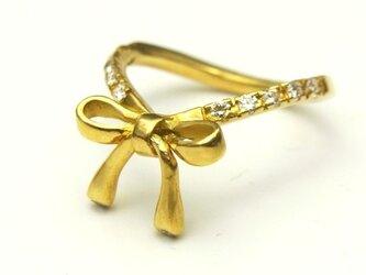 ゴールドリボンxダイヤモンド・K18イエローゴールドの画像