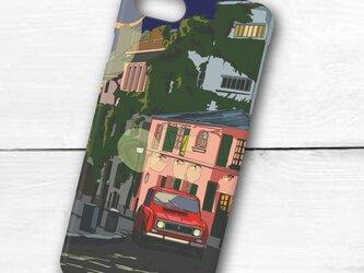 フランスの街並みイラスト「French night」 ハードケース型スマホケース iPhone&Android対応の画像