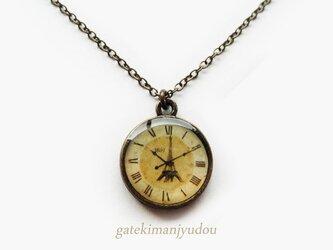 エッフェル塔の時計風ネックレス【長さ変更可】の画像