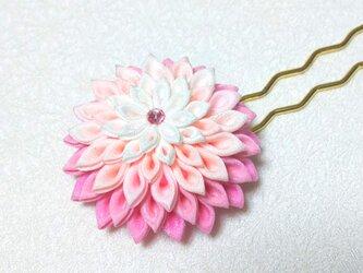 つまみ細工の簪(かんざし)*ピンク*の画像