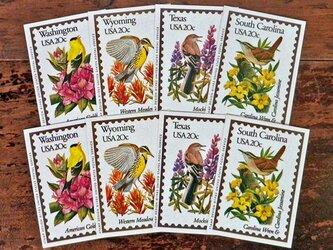 Vintage 鳥切手コレクションカードセット【U.S.A.】DA-CO078の画像