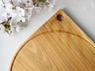 ピザプレート、カッティングボード MARU Φ295/山桜の画像