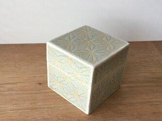 陶箱 釉絵麻紋の画像