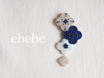 [生産終了品]hanatsumi-blueブローチの画像