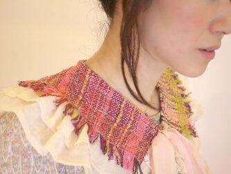 手織り つけ襟 フリルの画像