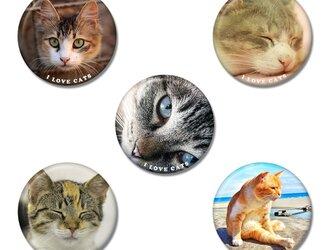 選べる5個「ねこB」缶バッジの画像