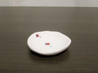 白彩-ミニ皿(RED)の画像