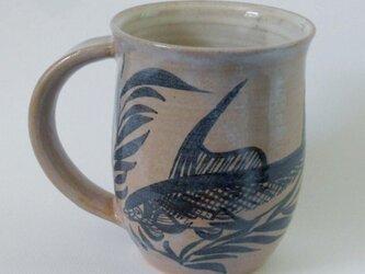 魚紋鉄絵マグカップの画像