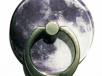 美しい満月のスマホリングの画像