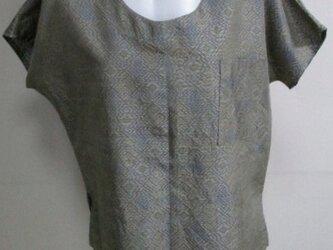 送料無料 色大島紬の着物で作ったプルーオーバー 3434の画像