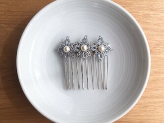 tatting lace hair accessory【silver】の画像