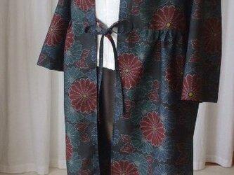 大島紬からのカーディガンコート 絹の画像