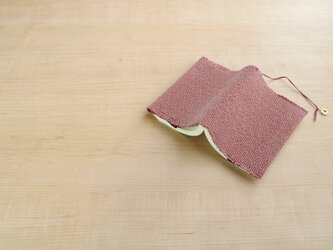 手織りブックカバー(文庫)ベージュの画像