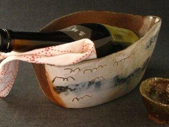 【送料無料】陶器 焼締めワインクーラー(1) 陶芸家オリジナル 1点ものの画像