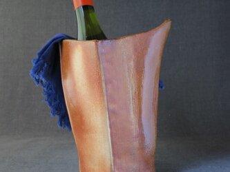 【送料無料】焼締めワインクーラー(28) 陶芸家オリジナル陶器の画像