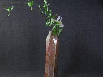 花器(64) しのぎ筒形花生け 陶芸家オリジナル陶器の画像