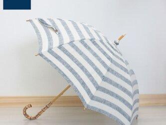 SHOKU 日傘(PR-MR-10-BL)持ち手竹の画像