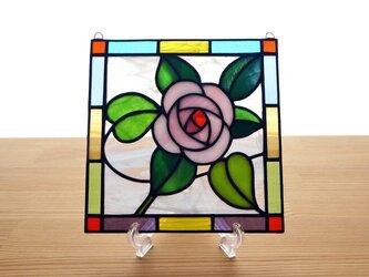 ステンドグラス ミニパネル 薔薇ローズ 15cmの画像