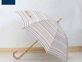 SHOKU 日傘(PR-EK-32-BL)持ち手竹の画像