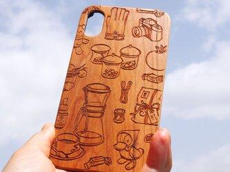 木製チェリーウッドスマホケースの画像