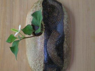 花器(67) 花生け 櫛目模様掛け花陶 芸家オリジナル陶器の画像