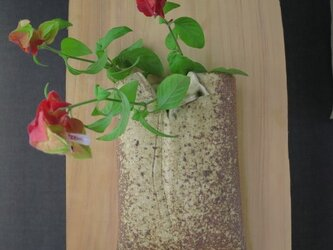 花器(70) 花生け 焼き締め掛け花 陶芸家オリジナル陶器の画像