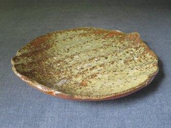 陶器 食器(81) 焼締め中皿 陶芸家オリジナルの画像
