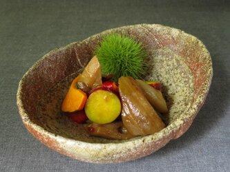 【送料無料】陶器 食器(83) 焼締め中鉢 陶芸家オリジナルの画像