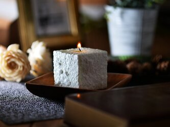 Natural Aloma Candle(Cube)| peppermintの画像