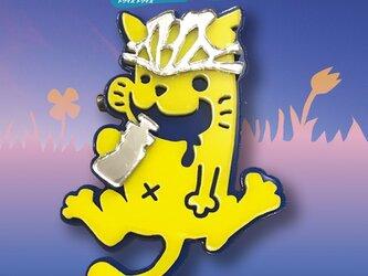 猫ブローチfitヘルメット リフレクションブローチの画像