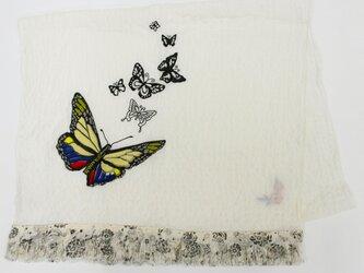50%オフ★バタフライ刺繍ストール918011の画像