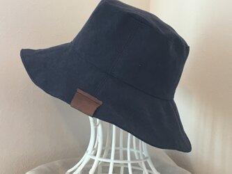 【受注製作】ウォッシュ加工の帆布  帽子の画像