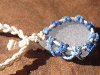 sea glass necklace  white #2の画像