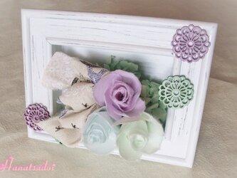 手漉き和紙花ギフト 優しいパステルカラーアレンジメントの画像