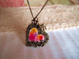 ◆◇小鹿と可愛いお花のネックレス◇◆の画像