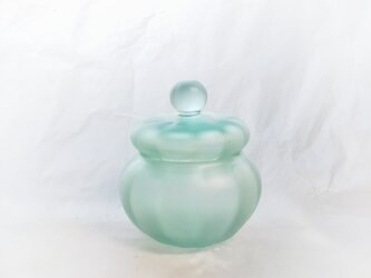 一点物★ブリキ色のガラスの小箱(マット)の画像