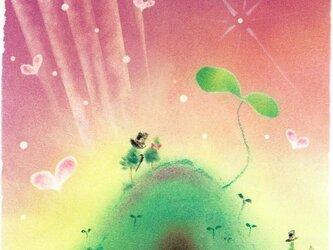 【原画】『新しい世界へ』(パステルアート)の画像
