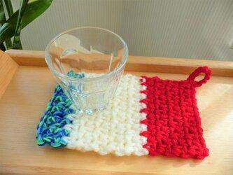 かぎ針編みのコースター (3)の画像