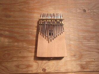 カリンバ(小)サクラ・クルミ マイク内蔵型の画像