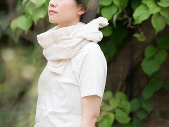 Organic Cotton&linen Wガーゼ夏のマフラー【37㎝幅】の画像