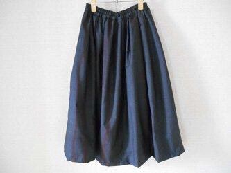 藍大島リメイクスカートの画像