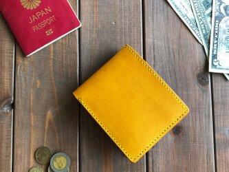金運アップ! イタリアンレザーを使った二つ折り財布の画像