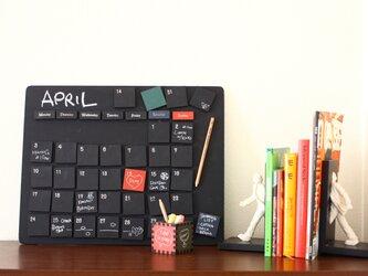 黒板万年カレンダー 黒板ボード 黒板マグネット42個セット インテリアの画像