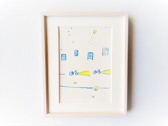 「レモンの夜に君とゆく」イラスト原画 ※額縁入りの画像