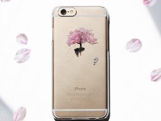 宇宙でお花見 プリントケース iPhone7 iPhoneケース各種 スマホケースの画像