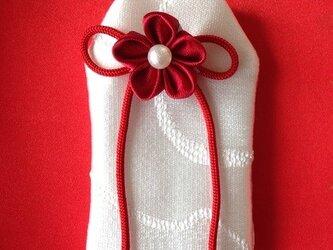 <サイズオーダー>元巫女が作るお守り袋(赤い糸)の画像