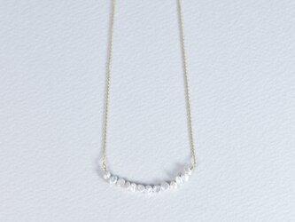 小粒のケシパールとk18YGのネックレス (314081B)の画像