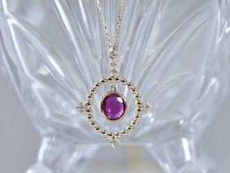 tiara ルビー / ダイヤ / k18ピンクゴールド ネックレス(714081A)の画像