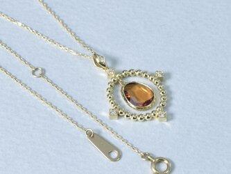 tiara ヘソナイト / ダイヤ / k18イエローゴールド ネックレス(714081B)の画像